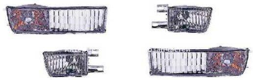 GOLF {III} фонарь-катафот левая+правая (комплект) (4 шт) в бампер тюнинг хрустальный (DEPO) белого цветаый (441-1619F3AE-C / 1HO941779+1HO941779+1H0953155+1H0953156 / VWGLF92-050W-N) для ? VOLKSWAGEN GOLF (1992-1997) – цена 2996 руб.